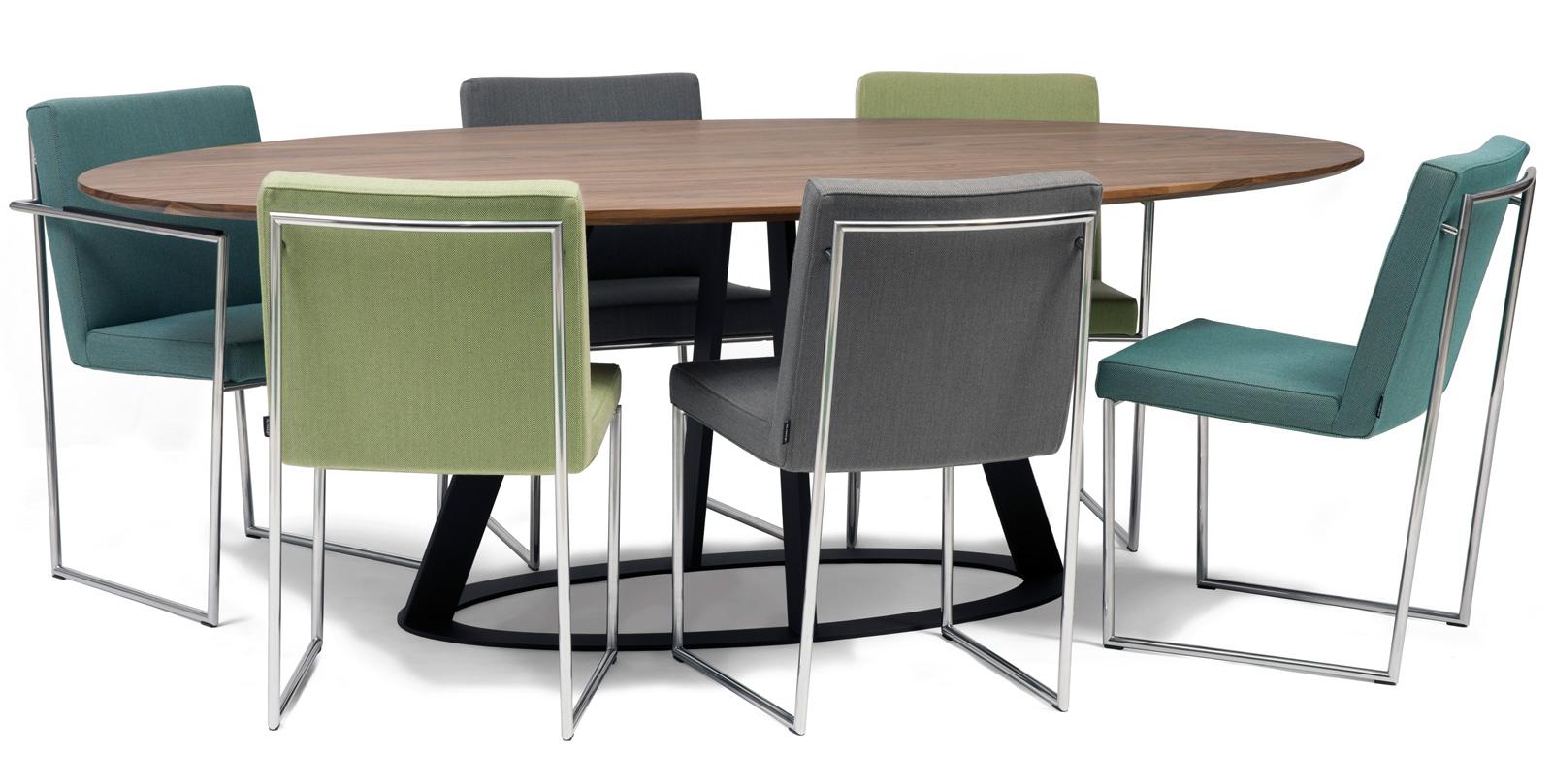 Fier ovaal harvink tafels for Design tafel ovaal
